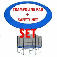 Trampoline Safety Net Padding Raincover Set 8 10 12FT Replacement Enclosure Pad