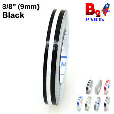 "3/8"" Double Pin stripe Striping tape Decals Stickers Vinyl tape 9mm Car bicycle"