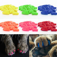 Funny Dog Pet Cat Nail Colorful Soft Silicon Claw Paws Caps Shell Glue Fake Nail