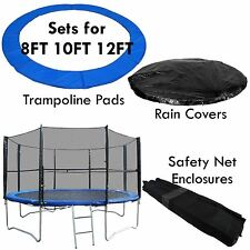 BodyRip TRAMPOLINE RAIN COVER + SAFETY NET + PADDING REPLACEMENT 8FT 10FT 12FT