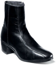 $135 NEW! MENS FLORSHEIM DUKE BLACK LEATHER SIDE ZIP ANKLE BOOTS SHOES SIZE