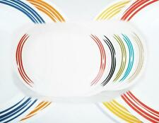 CORELLE Joy Manago STROKES 12x10 SERVING PLATTER Plate *Rainbow of COLOR CHOICES