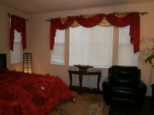 Octorose ® Royalty Custom Waterfall Window Valance Swags & Tails in many color