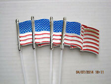 Floral Picks AMERICAN FLAG or HAPPY 4th of JULY Red, White and Blue Pk/6 NEW!!