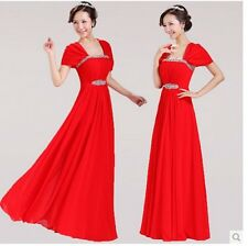 Fashion bridesmaid dress party dress evening wear Red