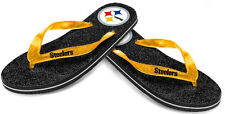 Flip Flops Pittsburgh Steelers Womens Glitter Thong Flip Flop Sandals BRAND NEW