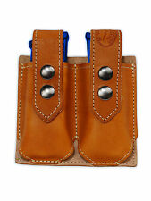 NEW Barsony Tan Leather Double Magazine Pouch for Ruger Star Full Size 9mm 40 45