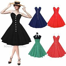 Maggie Tang 50s 60s Vintage Party Swing Pinup Rockabilly Dress Skirt Ball W525