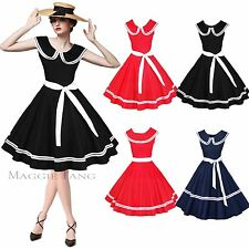 Maggie Tang 50s 60s Vintage Party Swing Pinup Rockabilly Dress Skirt Ball W526