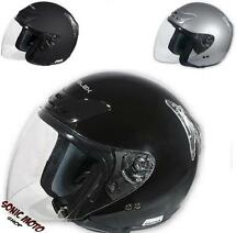 Open Face Biker Motorcycle Scooter Shield Men's Jet Helmet with Visor A-Pro
