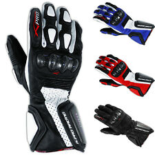 Motorcycle Biker Racing Sports Leather Riding Gloves Protection Knuckles A-Pro