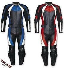 Motorcycle Leather 2-piece jumpsuit divisible Protections Approved Racing Jacket