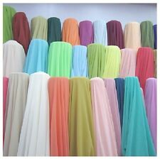 "60 Yards Chiffon Fabric 60"" Wide Roll Sheer Draping 40 Color Wedding Party Decor"