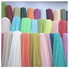 """60 Yards Chiffon Fabric 60"""" Wide Roll Sheer Draping 40 Color Wedding Party Decor"""