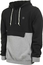 ~~NEW~~VOLCOM MENS slops LONG SLEEVE 1/4 ZIP PULLOVER HOODIE DARK HTR GREY LARGE