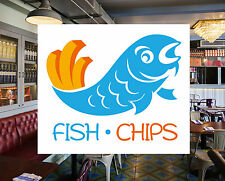Fish and Chips Catering Sign Window Restaurant Stickers Graphics Decal #0141
