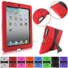 PEN + Shockproof Military Duty Rubber Stand Hard Case Cover For Apple iPad 2/3/4