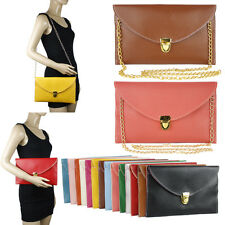 WOMENS ENVELOPE CLUTCH CHAIN CROSSBODY SHOULDER MESSENGER HANDBAG PURSE #LHBG131