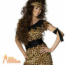 Ladies Cavewoman Costume Cave girl Prehistoric Womens Fancy Dress Outfit UK 8-18