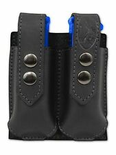 NEW Barsony Black Leather Double Magazine Pouch for Taurus Compact 9mm 40 45