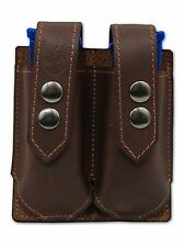 NEW Barsony Brown Leather Double Magazine Pouch Colt Kimber Compact 9mm 40 45