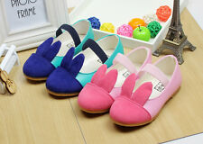 Fashion Kids Girls Rabbit Princess Lovely Elastic Zapato Flats Single Shoes T04