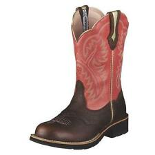 10001205 ARIAT WOMEN'S SHOWBABY (FAT BABY) BOOT Brown Rowdy with Rose Top NEW