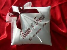 PERSONALISED wedding ring cushion / pillow 55 colours ! 15.2cm x 15.2cm