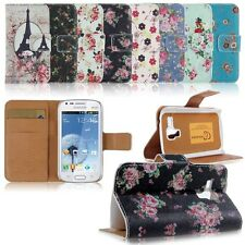 Folio Leather Wallet Case Cover For Samsung Galaxy S Duos S7562/Trend Duos S7560