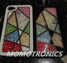 iPhone 5/5S Moving Crystal Bling Free Style window Protective Back Case Cover