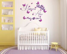 Personalised Name 3D Butterfly Vinyl Wall Art Sticker Mural Decal Childrens room