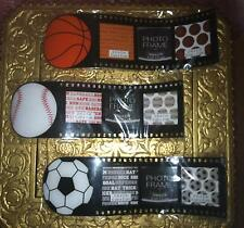 Plastic Wave Film Strip Picture Frame 3 Photo Display with Sports Theme Michaels