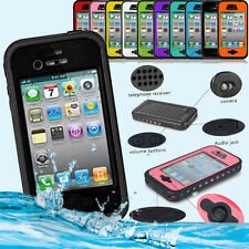 2016 NEWEST Waterproof Shockproof Snow/Water Proof Case for apple iPhone 4 4s