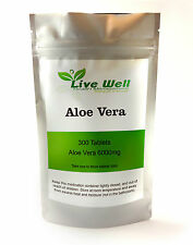 Naturally sourced Aloe Vera  6000mg Tablets for Digestive Health Free UK Postage