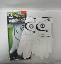 FJ FootJoy WeatherSof Men's White Golf Glove 2 Pack NEW Durable