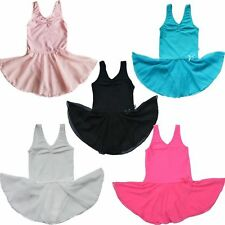 Girl Gymnastics Dance Dress Kids 2-14Y Ballet Tutu Leotard Chiffon Skirt Toddler