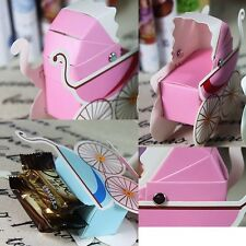 100Pcs Wedding Party Favor Boxes Box Candy Gift Baby Stroller Candy Box