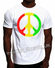 RASTA PEACE TSHIRT BOB MARLEY WEED DOPE HIGH CANNABIS GOOD VIBES TOP