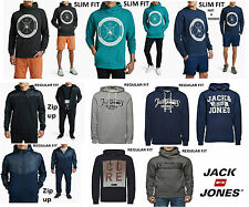 Mens Designer Jack And Jones Stylish Trendy Hooded Top Chino Hoodie Retro Casual