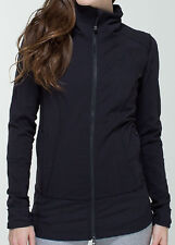 NWT Lululemon Nice Asana Jacket Brushed Black 2 4 6 8 10 12 Long Forme Contempo