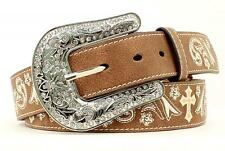 Nocona Western Belt Womens Belt Leather Embroidery Cross Brown N3497644
