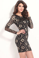 vestidos de fiesta LC21024 Classical Beauty V Back Two Tone Lace Vintage Dress a