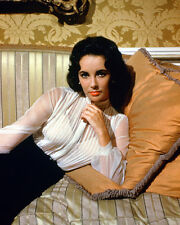 ELIZABETH TAYLOR COLOR SULTRY LOOKING RARE PHOTO OR POSTER