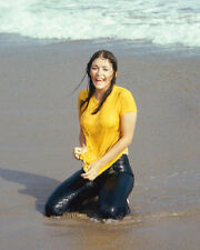 MARGOT KIDDER WET T-SHIRT ON BEACH COLOR PHOTO OR POSTER