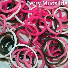 NEW CAMOUFLAGE BANDS ASSORTED  DESIGNER 100 PACKS - FOR RAINBOW LOOM - FAST SHIP