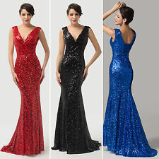 GK New In Ladies Bridesmaid Cocktail Party Evening Pageant Floor Length Dress JS