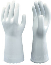 5 Pairs Of Showa B0700 Clean White Gloves - PVC Food Safe - 30cm
