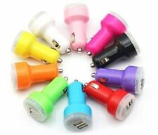 For iPod iPhone 4S 5 5C 5S Mini Car Charger Adaptor Bullet Dual USB 2-Port