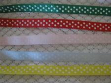 3 METRES POLKA DOT GROSGRAIN RIBBON-10 MM WIDE-CHOICE OF COLOURS-CRAFT/HAIRBANDS