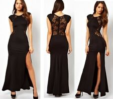 Woman New Sexy Celebrity Style See-Through Tops Slim Evening Party Maxi Dress